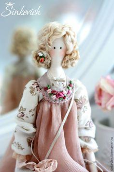 Купить Гретта - тильда, Кукла для интерьера, декор интерьера, подарок, подарок ручной работы