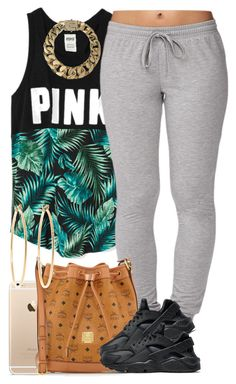 """PINK Leaves."" by livelifefreelyy ❤ liked on Polyvore featuring Forever 21, MCM, NIKE, AllSaints and Brooks Brothers"