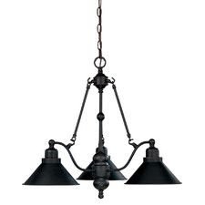 Schaff 3 Light Shaded Chandelier