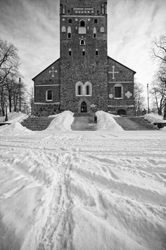 Sacristan getting ready for visitors during a snowy winter morning in 2010 Art Blog, Finland, The Good Place, Cathedral, Architecture, Building, Winter, Places, Photography
