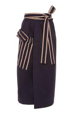 Palmer Harding Resort 2018 Collection Photos (Wraparound Straight Skirt - Navy)