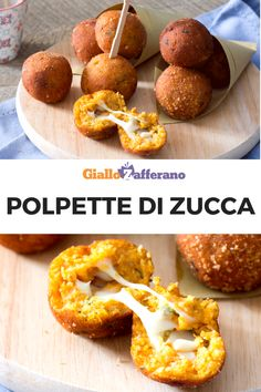 Pumpkin patties - Pumpkin meatballs: the queen of autumn turns into a soft puree to be molded with your hands to give - Pumpkin Balls Recipe, Popular Italian Food, Italian Food Restaurant, Food Porn, Vegetarian Recipes, Healthy Recipes, Cooking Recipes, Good Food, Yummy Food
