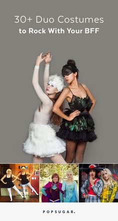 Instead of rocking a couple's costume with your significant other, how about teaming up with your gal pal to wear Halloween ensembles together?