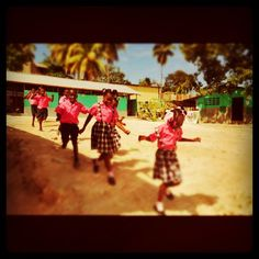 Children's school uniforms in Haiti are one of my favorite sources of color.