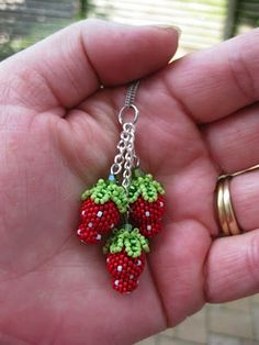 beaded strawberry