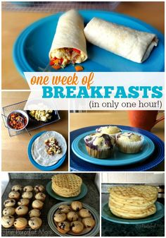 Save time and money with my step-by-step plan to make One Week of Breakfasts in only 1 Hour! Work smarter, not harder. - ThePeacefulMom.com