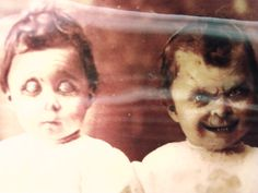 Okay this pic is uber creepy! Scary Tattoos, Scary Kids, Horror Picture Show, Jeepers Creepers, Macabre, Vintage Halloween, Creepy, Che Guevara, Weird
