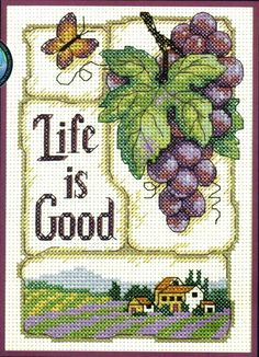 Cross-stitch Life is Good, part 1