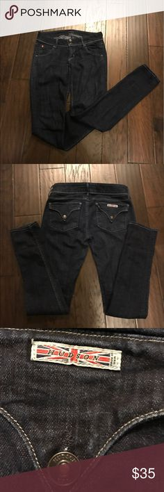 Hudson skinny dark jean Worn a handful of times. Still in great condition. Hudson Jeans Jeans Skinny