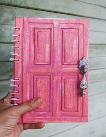 """Blue Pear"": How I do it - Notepad is the old door. Diy Notebook, Notebook Covers, Paper Art, Paper Crafts, Cute Notebooks, Cute School Supplies, Ideias Diy, Handmade Books, Handmade Journals"