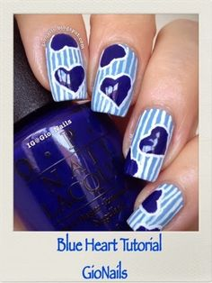 GioNails: Tutorial Blue Heart
