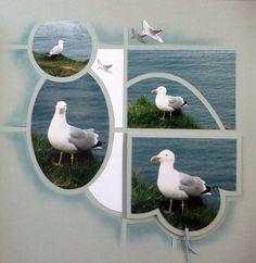 Mouette 1 Mini Scrapbook Albums, Mini Albums, Scrapbook Pages, 3 Picture, Eole, Photos, Paper Crafts, Bird, Arts