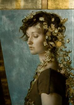 Brad Kunkle - The Crown Jewel, Oil and gold and silver leaf on linen