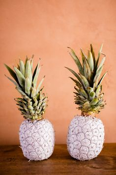 A layer of chic white paint: http://www.stylemepretty.com/living/2015/08/04/the-right-way-to-slice-a-pineapple/