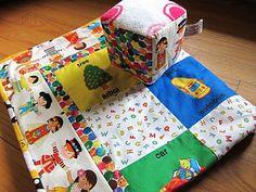 Adorable bilingual blanket and block