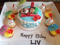 Olaf in summer umbrellas with flowers Olaf Birthday Party, Olaf Party, Frozen Bday Party, Birthday Parties, Birthday Cake, 4th Birthday, Frozen In Summer, Olaf Summer, Happy B Day