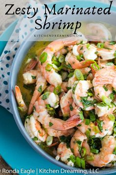 Zesty Marinated Shrimp makes a great appetizer or first course and is wonderful on top of a salad with the sauce as a vinaigrette. #easy pickled shrimp #pickled shrimp #spicy pickled shrimp #shrimp appetizers for party #finger foods #make ahead appetizers #Kitchen Dreaming