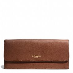Coach  SOFT WALLET IN SAFFIANO LEATHER