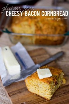 Delicious gluten free cheesy bacon cornbread is also packed with fiber and Omega 3's thanks to Bob's Red Mill products.