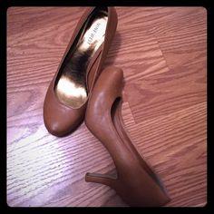 Nine West heel Light brown heels. Nine West Shoes Heels