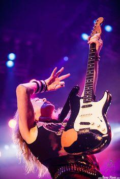 Janick Gers, guitarrista de Iron Maiden, Bilbao Exhibition Centre (BEC), Barakaldo, 29/05/2014. Foto por Photographer: Dena Flows