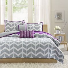 Intelligent Design Reversible Peyton Purple Comforter Set | Overstock.com Shopping - The Best Deals on Teen Comforter Sets