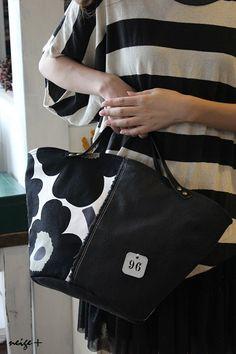 マリメッコの大人可愛い帆布のマルシェバッグ♪ : neige+ 手作りのある暮らし Marimekko Fabric, Linen Bag, Denim Bag, Tote Purse, Handmade Bags, Fashion Bags, Sewing Crafts, Messenger Bag, Sewing Patterns
