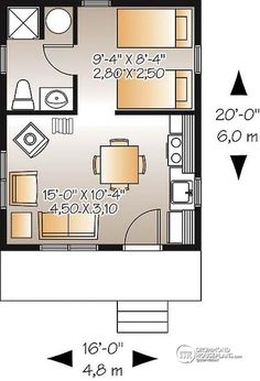 1st level 320 sq.ft. Recreational tiny home or tiny cabin for 2 to 6 people - Wodwinds