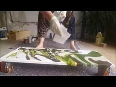 art by zhu: acrylic pouring and swiping tutorial, massive beautiful cells - YouTube