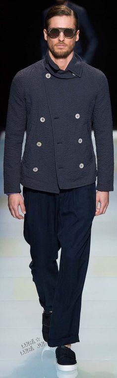 www.2locos.com Giorgio Armani Spring 2016 Menswear