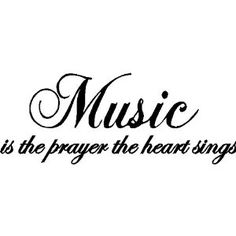 MUSIC....WALL SAYINGS WORDS QUOTES LETTERING ART DECALS