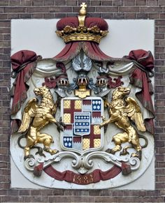 Coat of arms at the entrance of Almelo Castle - Almelo, Netherlands