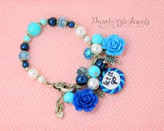 handmade polymer claylet it go inspired frozen bracelet with snowflakes