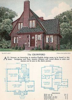 1928 Home Builders Catalog - The Crawford | by American Vintage Home