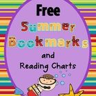 Free Summer Bookmarks and Reading Charts This printable includes:  3 pages of bookmarks in color to print and cut apart 2 pages of black and white ...