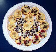 Mini Greek yogurt pancake muffins...perfect for a toddler breakfast!
