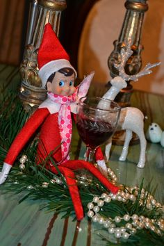 Elf on the Shelf - drinks a lot, but he also leaves a bottle of the adult's fav wine! :)