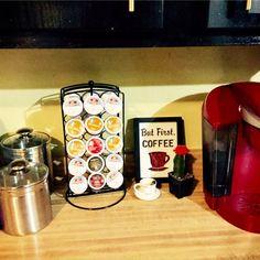 Love my little coffee nook in my kitchen!