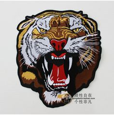 Cheap vest inflatable, Buy Quality vest cotton directly from China vest jacket Suppliers: The roaring tiger embroidery cloth accessories boutique Leather Vest motorcycle rider personality big back label super handsome