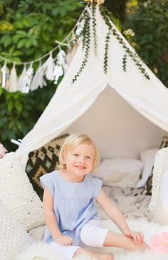 A Backyard Teepee Birthday Photo Shoot - Inspired By This
