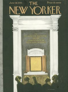 The New Yorker - Saturday, June 30, 1945 - Issue # 1063 - Vol. 21 - N° 20 - Cover by : Christina Malman