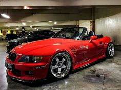 BMW Z3 red slammed
