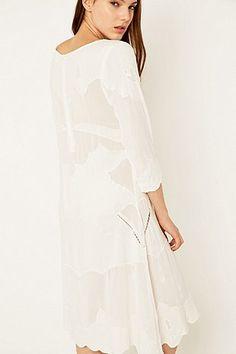 dc082391e0 Somedays Lovin  Tambourine White Midi Dress