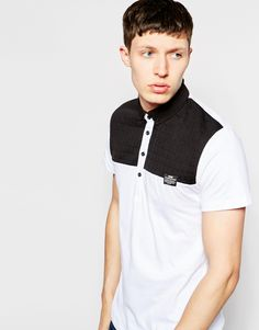 Jack & Jones Polo Shirt with Quilted Contrast Yoke