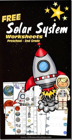 Solar System - Learning Pack for Preschool, Kindergarten, and 1st Grade