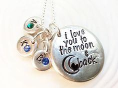 I Love You to the Moon and Back Necklace  by larkandjuniper, $41.00. Love this