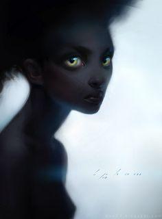 Fantastic Photoshop image of a beautiful woman with stupendously enchanting eyes by US-based artist Bao Pham. Image Digital, Digital Art, Adara Sanchez, Skins Characters, Elf Characters, Character Art, Character Design, Character Creation, Photoshop