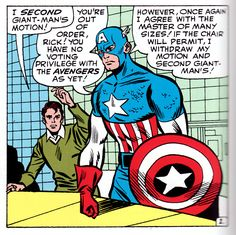 Capt America knows his bylaws. Get it together Rick Jones, you groupie.