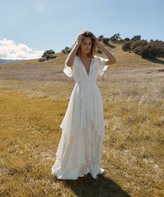Athena dresses - What Everybody Likes About Silk Wedding Dress and Why – Athena dresses V Neck Wedding Dress, Boho Wedding Dress, Bridal Dresses, Wedding Gowns, Mermaid Wedding, Dresses Dresses, Casual Wedding Dresses, Greek Style Wedding Dress, Lace Wedding