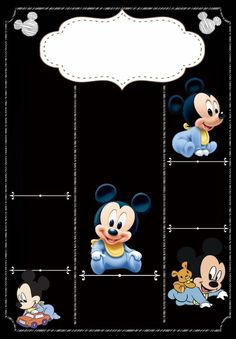 Lindo First Birthday Board, Birthday Card Template, Birthday Cards For Her, Baby Boy 1st Birthday, Mickey Birthday, Festa Mickey Baby, Mickey Mouse Baby Shower, Baby Mouse, Chalkboard Pictures
